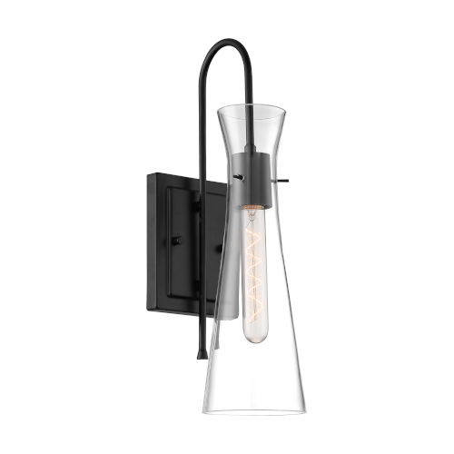 Bahari Black One-Light Wall Sconce