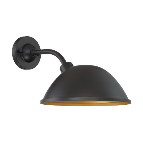 South Street Dark Bronze and Gold 12-Inch One-Light Outdoor Wall Mount
