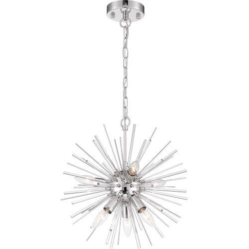 Cirrus Nickel Six-Light Chandelier