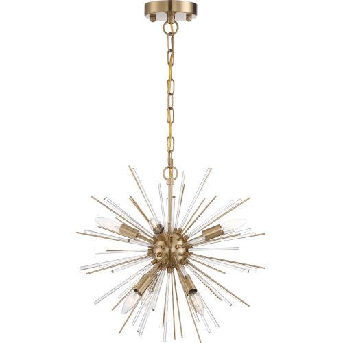 Cirrus Brass Six-Light Chandelier