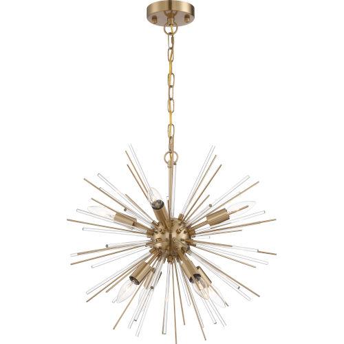 Cirrus Brass Eight-Light Chandelier