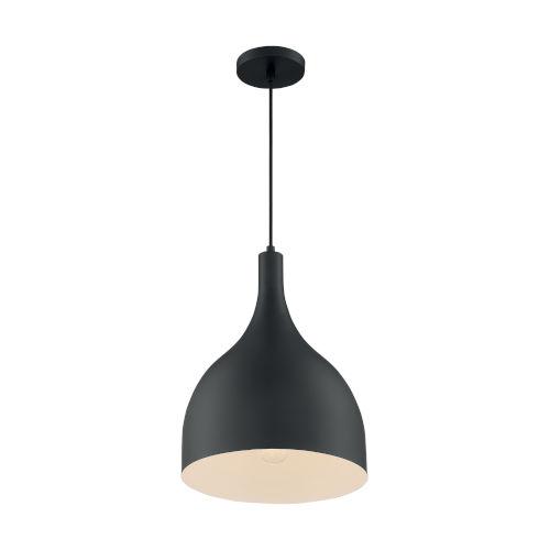 Bellcap Matte Black 16-Inch One-Light Pendant