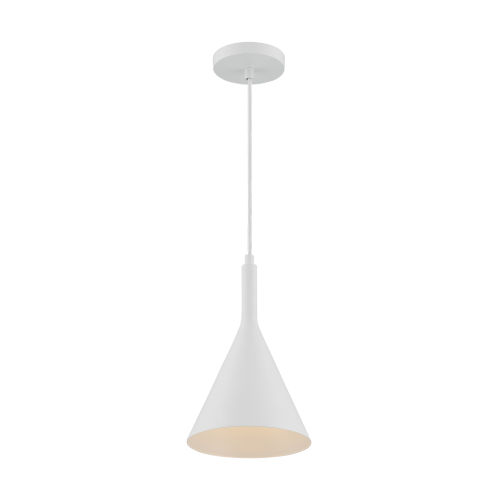 Lightcap Matte White 13-Inch One-Light Pendant