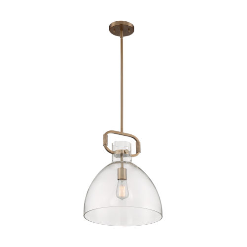 Teresa Burnished Brass 17-Inch One-Light Pendant