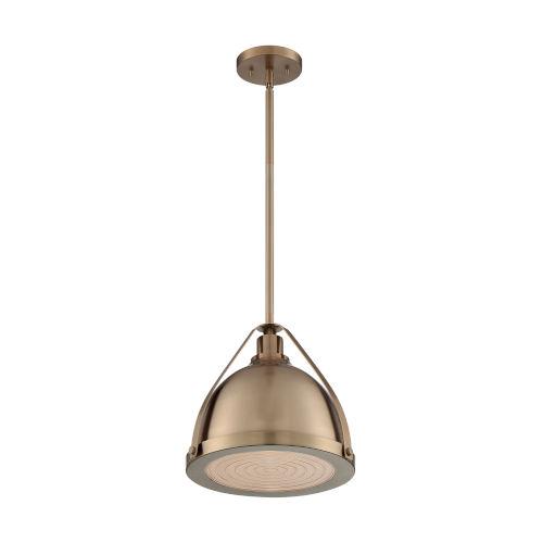 Barbett Burnished Brass 13-Inch One-Light Pendant
