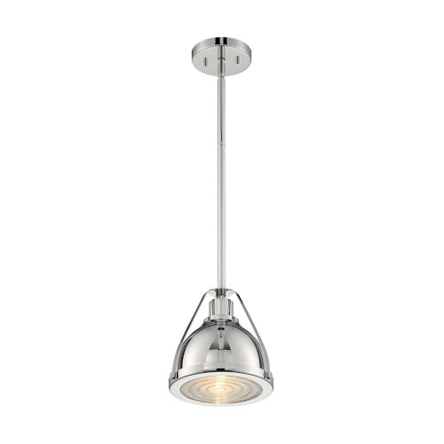 Barbett Polished Nickel Nine-Inch One-Light Pendant