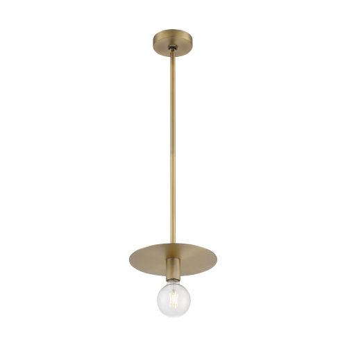 Bizet Vintage Brass One-Light Mini Pendant