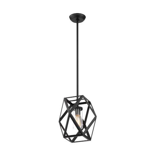 Zemi Black One-Light Mini Pendant