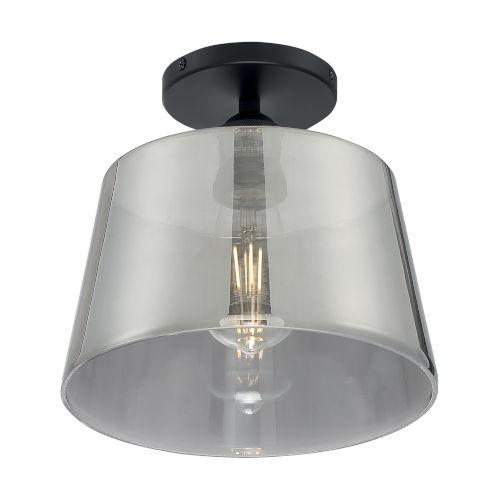 Nuvo Lighting Motif Black And Smoked Glass 10 Inch One Light Semi Flush Mount 60 7334 Bellacor