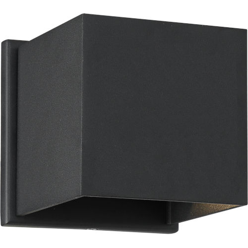 Lightgate Black One-Light LED Outdoor Square Sconce