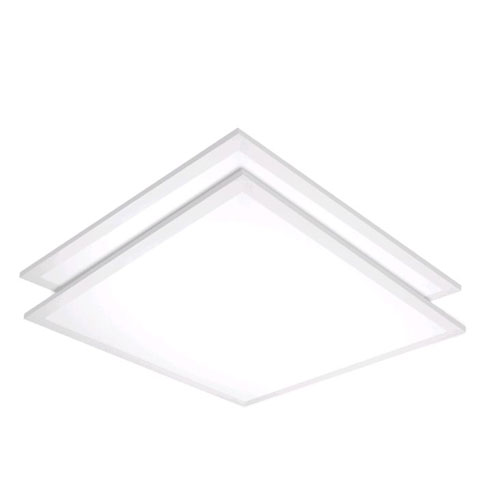 White Two-Foot LED Flat Panel 3500K DLC Compliant, Pack of 2