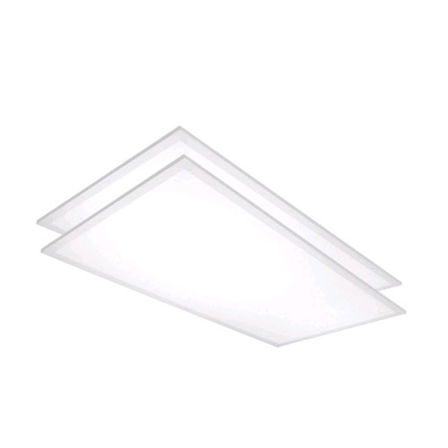 White Four-Foot LED Flat Panel 5000K DLC Compliant, Pack of 2