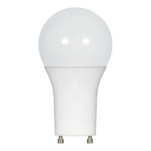 SATCO Frosted White LED A19 GU24 11 Watt Type A Bulb with 2700K 1100 Lumens 80 CRI and 220 Degrees Beam