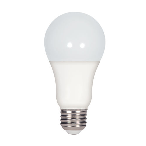 SATCO Frosted White LED A19 Medium 15 Watt Type A Bulb with 3000K 1600 Lumens 80 CRI and 220 Degrees Beam