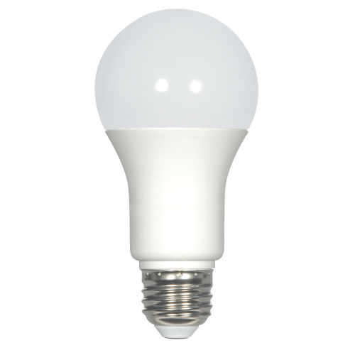 SATCO Frosted White LED A19 Medium 6 Watt Type A Bulb with 5000K 480 Lumens 80 CRI and 220 Degrees Beam