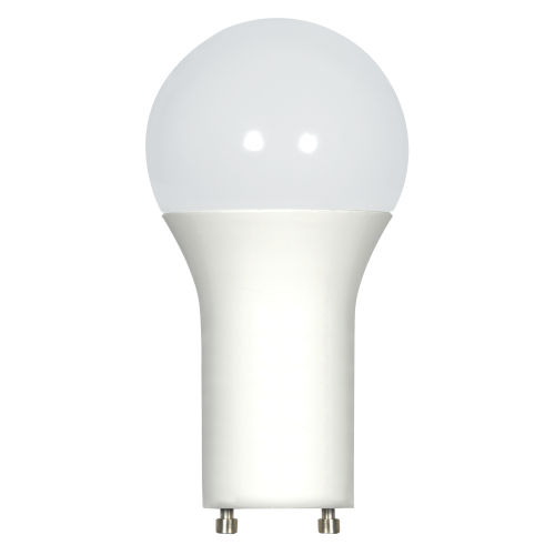SATCO Frosted White LED A19 GU24 9.8 Watt Type A Bulb with 4000K 800 Lumens 80 CRI and 220 Degrees Beam