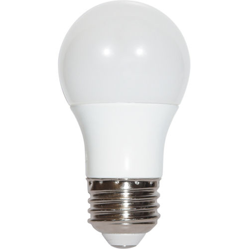 SATCO Frosted White LED A15 Medium 5.5 Watt Type A Bulb with 3000K 450 Lumens 80 CRI and 230 Degrees Beam