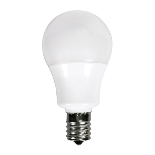 SATCO Frosted White LED A15 Intermediate 5.5 Watt Type A Bulb with 2700K 450 Lumens 80 CRI and 230 Degrees Beam