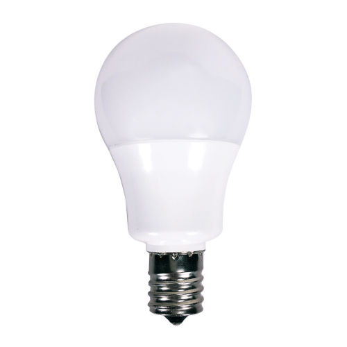 SATCO Frosted White LED A15 Intermediate 5.5 Watt Type A Bulb with 5000K 450 Lumens 80 CRI and 230 Degrees Beam