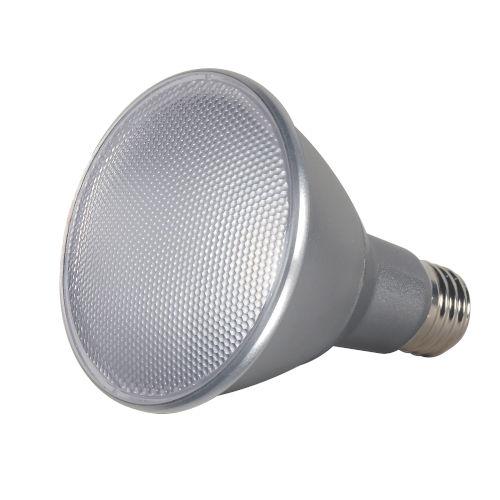 SATCO Clear LED PAR30LN Medium 13 Watt PAR LED Bulb with 2700K 1000 Lumens 80 CRI and 25 Degrees Beam