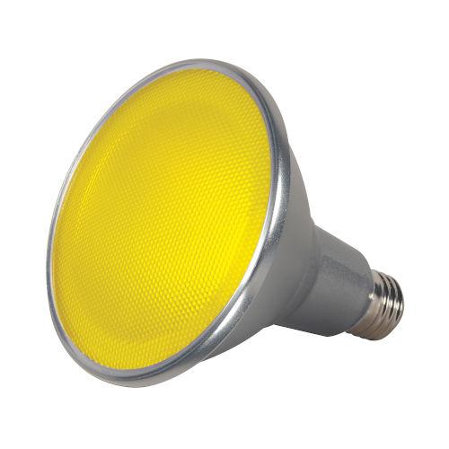 SATCO Yellow LED PAR38 Medium 15 Watt PAR LED Bulb with K Lumens CRI and 40 Degrees Beam
