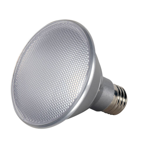 SATCO White LED PAR30SN Medium 13 Watt PAR LED Bulb with 2700K 820 Lumens 90 CRI and 40 Degrees Beam