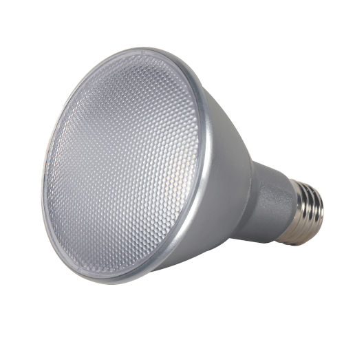 SATCO White LED PAR30LN Medium 13 Watt PAR LED Bulb with 2700K 820 Lumens 90 CRI and 40 Degrees Beam