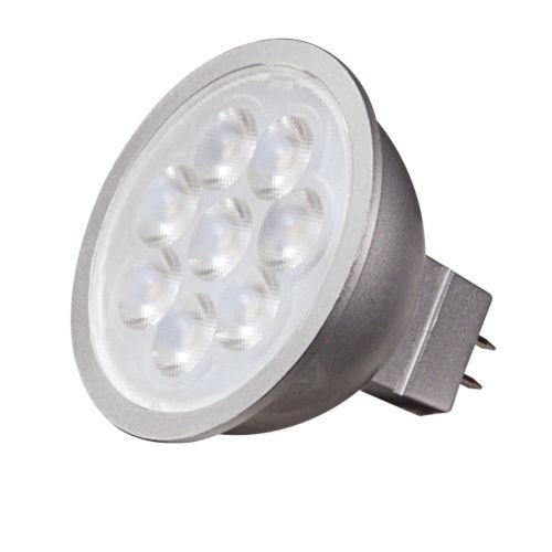 SATCO Silver Back LED MR16 GU5.3 6.5 Watt MR LED Bulb with 5000K 500 Lumens 80 CRI and 25 Degrees Beam 12 Volt
