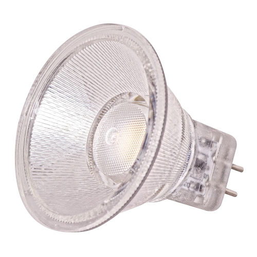 SATCO LED MR11 Bi 1.6 Watt MR LED Bulb with 5000K 200 Lumens 80 CRI and 40 Degrees Beam 12 Volt