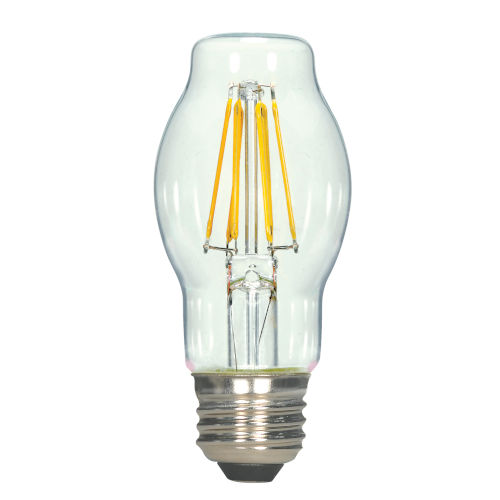 SATCO Clear LED BT15 Medium 4.5 Watt LED Filament Bulb with 2700K 450 Lumens 80 CRI and 360 Degrees Beam
