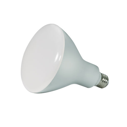 SATCO Frosted White LED BR40 Medium 16.5 Watt BR LED Bulb with 3000K 1200 Lumens 80 CRI and 103 Degrees Beam