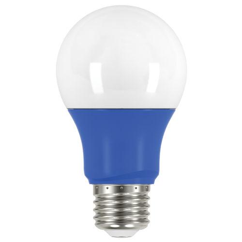 SATCO Blue LED A19 Medium 2 Watt Type A Bulb with K 200 Lumens 80 CRI and 220 Degrees Beam