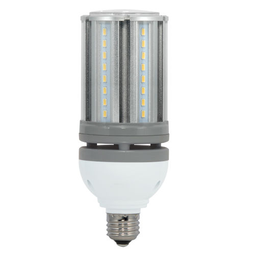 SATCO Amber LED Medium LED 18 Watt HID Replacements Bulb with K Lumens CRI and 300 Degrees Beam