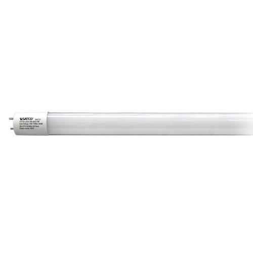 SATCO Gloss White LED T8 Medium 15 Watt LED T8 Bulb with 3500K 1700 Lumens 82 CRI and 230 Degrees Beam