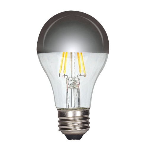 SATCO Silver Crown LED A19 Medium 6.5 Watt Type A Bulb with 2700K 650 Lumens 80 CRI and Degrees Beam