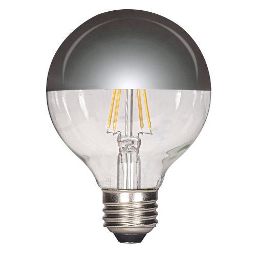 SATCO Silver Crown LED G25 Medium 4.5 Watt LED Globe Light Bulb with 2700K 430 Lumens 80 CRI and Degrees Beam