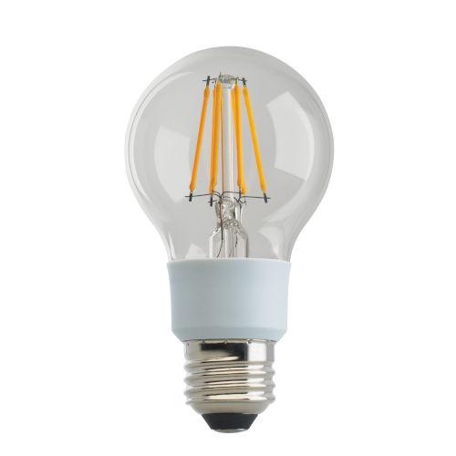 SATCO Clear LED A19 Medium 9 Watt LED Filament Bulb with 3000K 1100 Lumens 80 CRI and 360 Degrees Beam