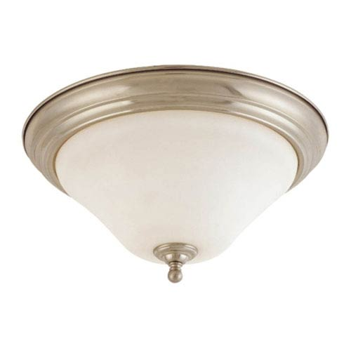 Nuvo Lighting Dupont Brushed Nickel One-Light Flush Mount with Satin White Glass