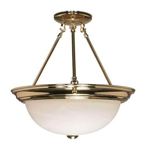 Polished Brass Small Bowl Pendant
