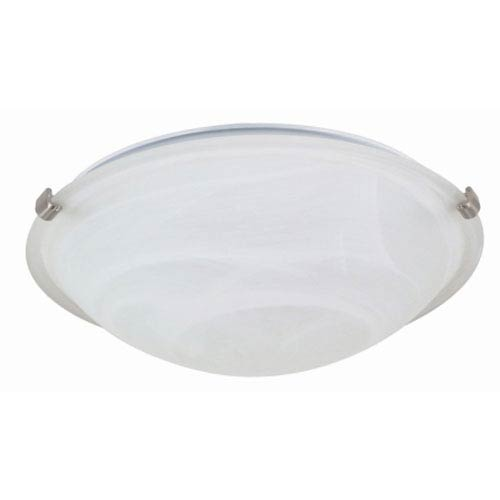 Nuvo Lighting Brushed Nickel Two-Light Flush Mount with Alabaster Glass