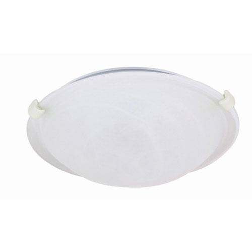 Nuvo Lighting Textured White One-Light Flush Mount with Alabaster Glass