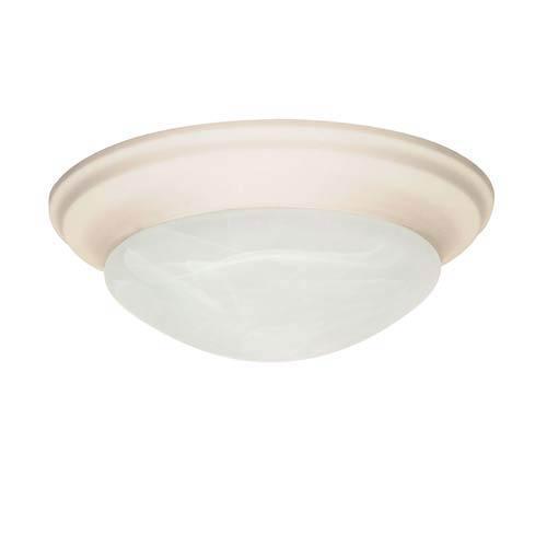 Textured White Flush Mount Ceiling Light