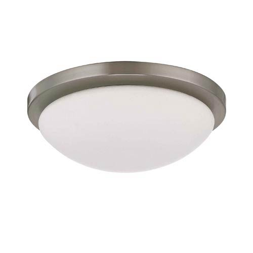 Button Small Brushed Nickel Energy Star Flush Mount Ceiling Light