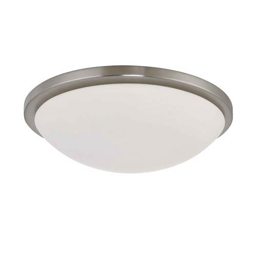 Nuvo Lighting Button Large Brushed Nickel Energy Star Flush Mount Ceiling Light