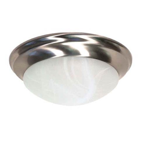Nuvo Lighting Brushed Nickel Two-Light Energy Star Flush Mount with Alabaster Glass