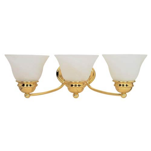 Empire Polished Brass Three-Light Bath Fixture