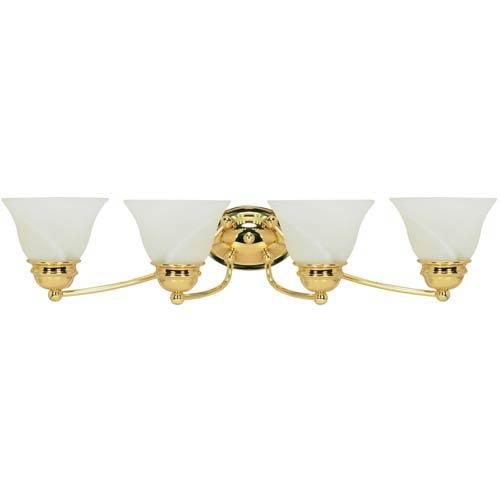 Empire Polished Brass Four-Light Bath Fixture