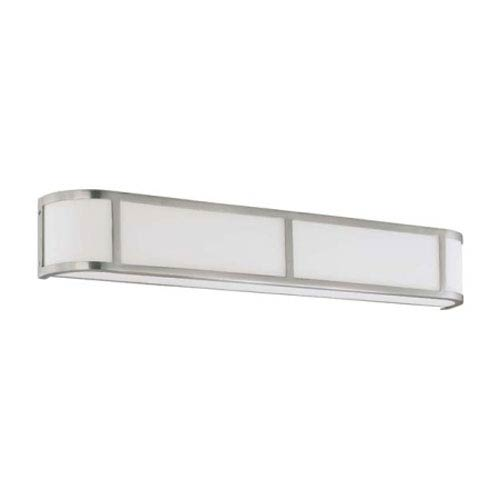 Nuvo Lighting Odeon Brushed Nickel Four-Light Energy Star Bath Fixture with Satin White Glass
