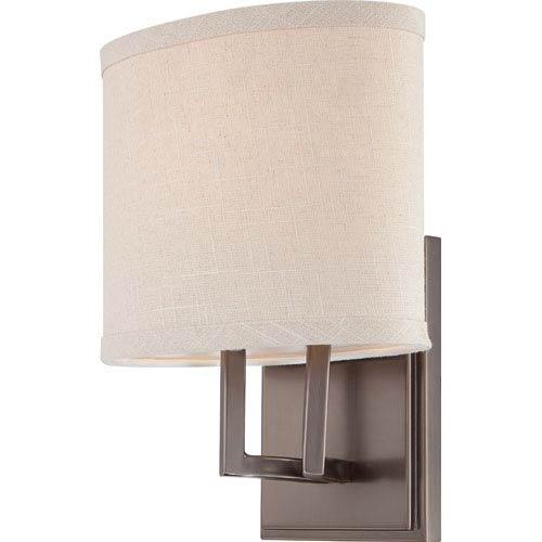 Nuvo Lighting Gemini Hazel Bronze Vanity Fixture w/Khaki Fabric Shade