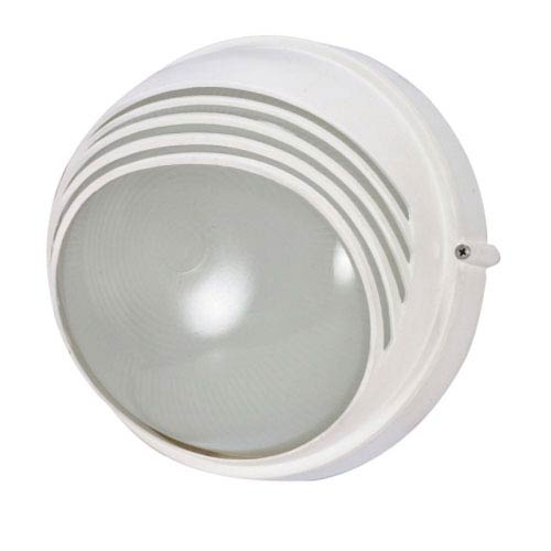 Nuvo Lighting Semi Gloss white One-Light Outdoor Wall Mount with Frosted Glass Diffuser